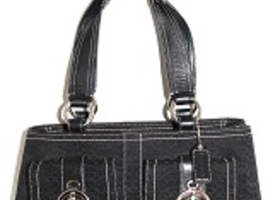 Coach Signature C Black Soho Satchel Tote 3646