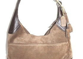 Coach Chocolate Brown Leather Suede Satchel Tote 10281