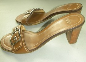Coach Natalie Slip On Heels Size 8 1/2B