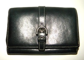 Coach Black Leather Soho Wallet