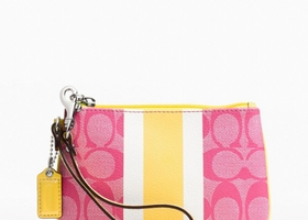 Coach F49079 Pink/Yellow Wrislet