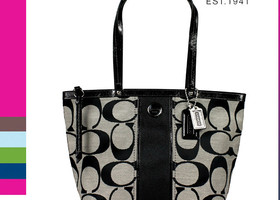 Authentic Coach Signature Tote ~ Black