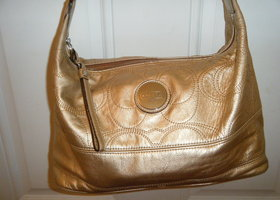 Coach Signature Stitched Leather Hobo