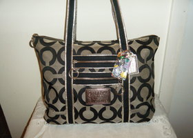 Coach Op Art glam bag