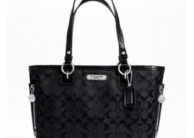 NWT Coach Gallery Signature Zipper Tote-F23766