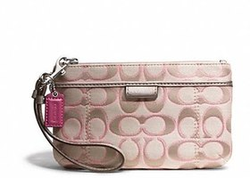 NWT Coach Daisy Metallic Outline Medium Wristlet-F49558