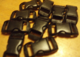 20- 3/8 Black Side Release Buckles