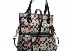 NWT Coach Poppy Signature C Embroidered Foldover-F21189