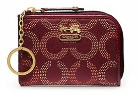 NWT Coach Madison Dot Op Art Mini L Zip Wallet-48647