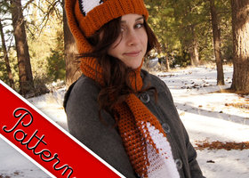 Crocheted Fox Scarf - Hat (Scat) Pattern