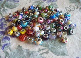 100-250 Pandora Style Lampwork Beads Destash