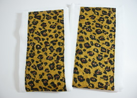 Burp Cloths Pads Leopard Handsewn Designer Fabric Set of 2