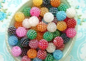 50 Berry Beads Assorted Colors