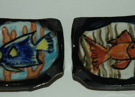 Pair of Swimming Fish Mini Dishes