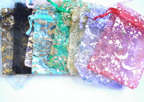 Organza Bags Lot of 50 mixed colors