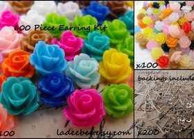 600 Piece d.i.y. Stud Earring Kit