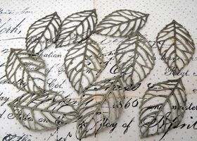 20 Pieces of Large Brass Leaves
