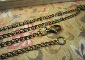 10 Bronze Finished Necklace Chains