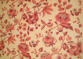 Vintage Mid 20th Cent French Floral Wallpaper