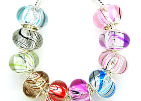 Mix transparent crack resin Charm Beads