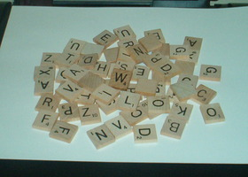 Huge lot of 100 Scrabble tiles - great for crafting