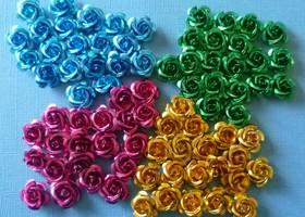 80- 24mm Larger Size  Vintage Metal Rose Beads