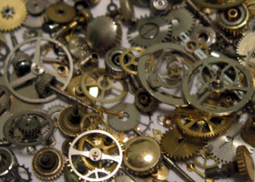 100 Watch Parts - Perfect for Steampunk