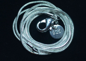 "10 925 Silver necklaces 22"", 20"" or 18"" with 1mm d"