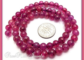 Rose Dragon Vein Agate Gemstone Beads 6mm