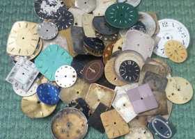 25 Vintage Watch Dials Assorted Shapes + SIzes
