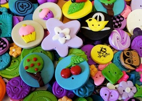 50 Artisan Handmade Buttons Mix all Shapes and SIzes Mi