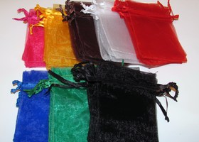 Your choice 150 Big and/or Small Wholesale organza bags