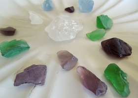 Sea Glass from Kauai, Hawaii 14 Pieces