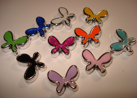 10 pairs of Enamel Butterflies in mixed colors