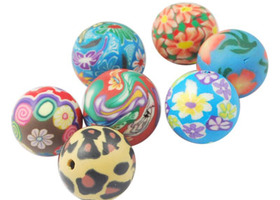 100 Colorful polymer clay beads 10mm