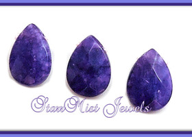1 Strand Royal Purple Faceted Jade Gemstone Brios 14x10mm