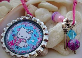 Hello Kitty Bottle Cap Book Thong Marker