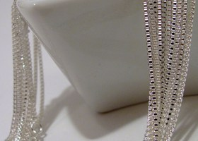 Your choice 8 Sterling Silver Snake or Box Chains 16-30