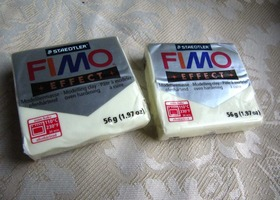 2 bricks Glow in the Dark FiMO bake clay