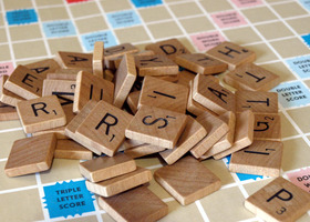 50 Darker Patina Vintage Scrabble Tiles