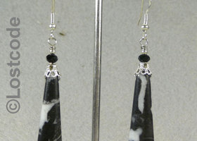 Zebra jasper silver earrings