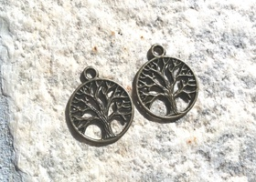 Small Bronze Tree of Life Pendants (10)