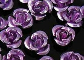 600 pieces Anodized Aluminum Rose Beads