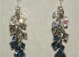 Shades of Grey Swarovski Crystal Earrings