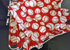 Baseball Fabric Bunting Banner, Flags