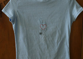 Hand Embroidered LOVE T-Shirt