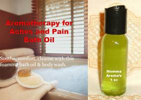 Aromatherapy for Aches and Pain Bath Oil