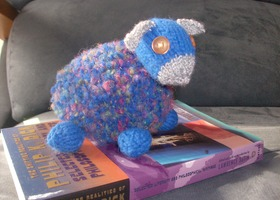 "Handknitted Plush ""Electric Sheep"""