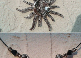 Unique Sun Moon Necklace(2 sided)