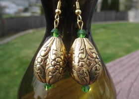 Gold Lantern Earrings